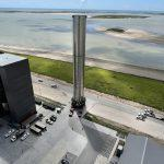 Super Heavy Booster 3 being moved to the launch site